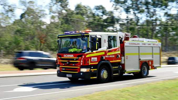 CRASH: A car has crashed down an embankment on the Cunningham Highway.