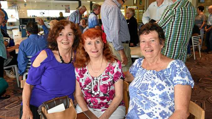 The Campbell sisters Shona Gauld, left, Marnie Wellard and Averil Collins at Pialba High Top school reunion at the boat club.