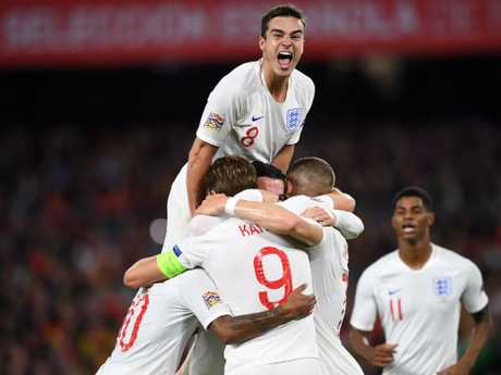 England was on top of the world at 3-0.