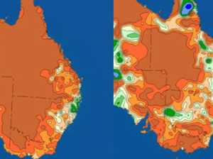 Two maps sum up crazy rainfall