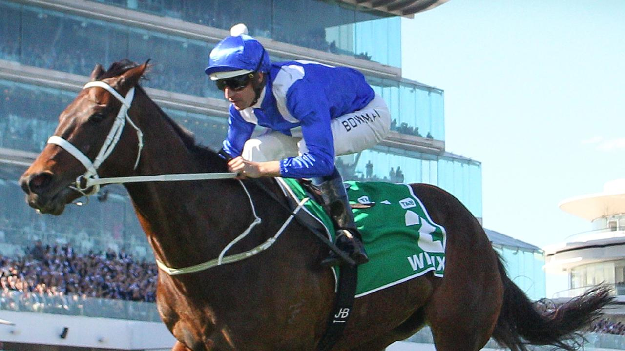 MELBOURNE, AUSTRALIA — OCTOBER 06: Hugh Bowman riding Winx wins race 5 the TAB Turnbull Stakes during Melbourne Racing at Flemington Racecourse on October 6, 2018 in Melbourne, Australia. (Photo by Scott Barbour/Getty Images)