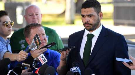 The Souths star was very apologetic after the incident. (AAP Image/Joel Carrett)