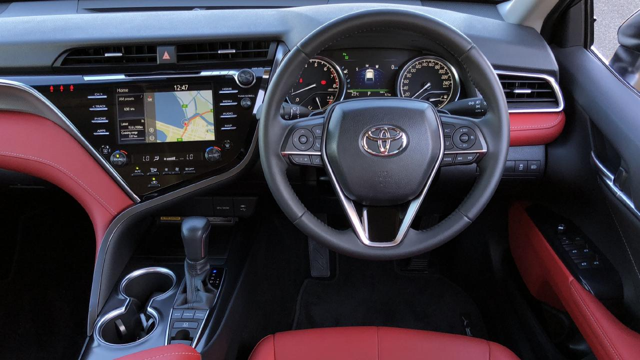 The Camry has one of the roomiest cabins in its class. Picture: Joshua Dowling.