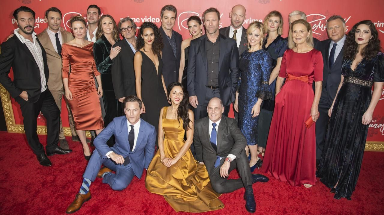 The cast of The Romanoffs, with creator Matthew Weiner, at the New York premiere.