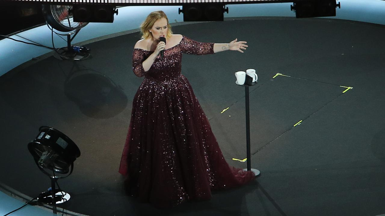 British singer Adele during her second performance at the Gabba stadium in March last year. Picture: Jack Tran