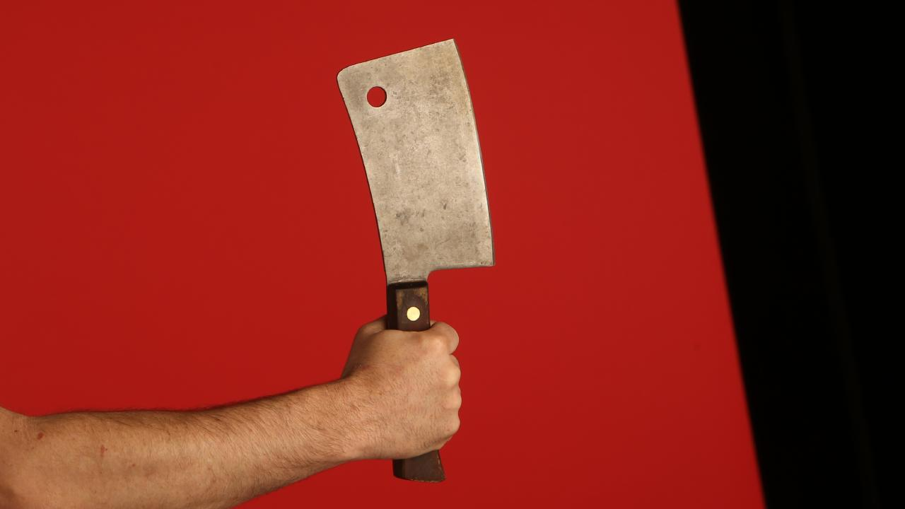 A man was left traumatised after suffering flashbacks threatening to chop off his manhood.