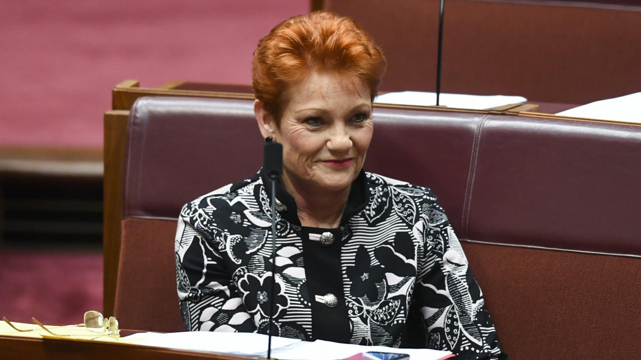 One Nation party leader Pauline Hanson. Picture: AAP Image/Lukas Coch
