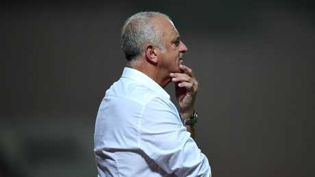 Graham Arnold looks on during the match between Kuwait and Australia