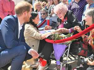 War widow steals the hearts of royal couple