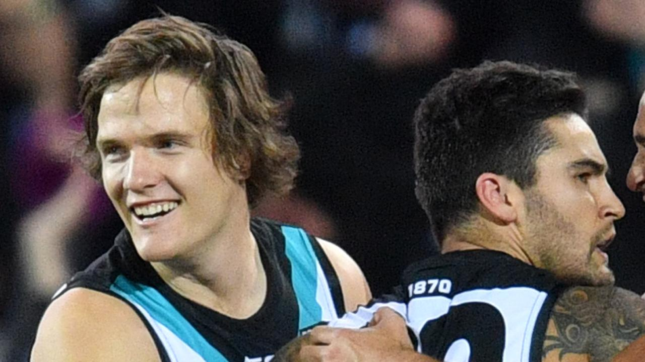 Jared Polec says Chad Wingard's head was in no man's land when he made the decision to leave Port Adelaide with a year left on his contract. Picture: AAP Image/David Mariuz