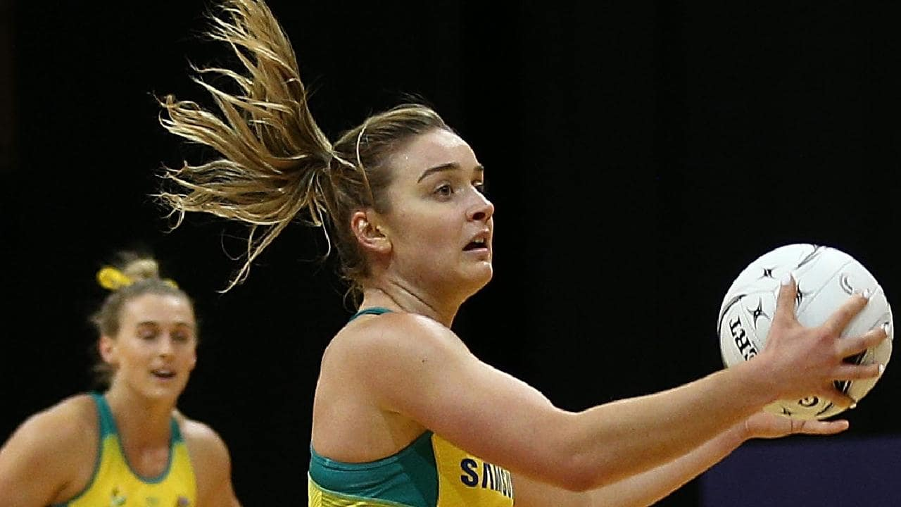 Liz Watson during Australia's loss in Hamilton on Sunday.