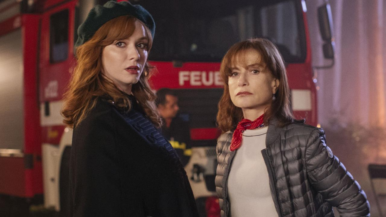 Christina Hendricks and Isabelle Huppert in the third episode of The Romanoffs. Picture: Supplied/Amazon Prime