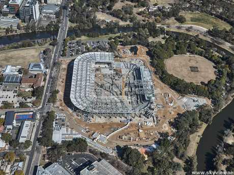 The new Western Sydney Stadium. Photo credit -skyviewaerial.com.au