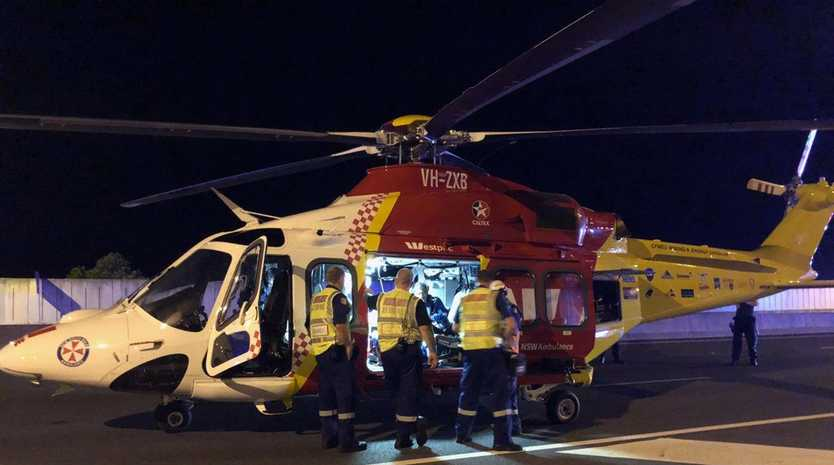 The Westpac Life Saver Rescue Helicopter was tasked to Lennox Head early this morning.