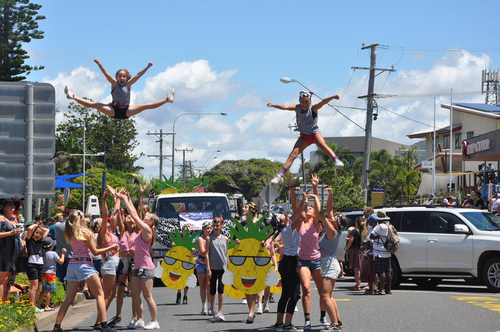 Image for sale: Aussie Cheer and Dance put on quite the display in the Pinefest Parade