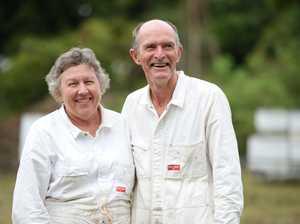 Beekeepers Mary and Eddie McKee.
