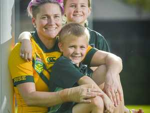 Chelsea Baker with daughter Maddison and son Quade at
