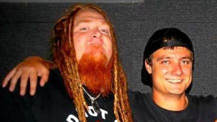 Brad Bromfield and Lindsay Connolly (right) together as bandmates back in the day.