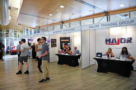 Future employees attend the JobShow at Mooloolaba TAFE.