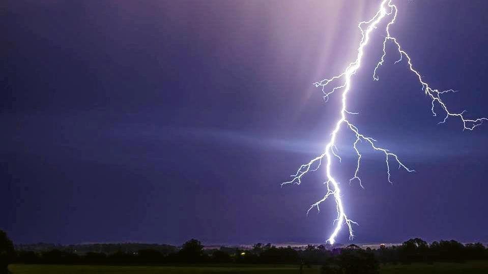 A dramatic lightning strike at Casino.