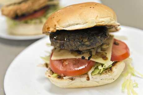 A traditional hamburger from Gowrie One Stop Convenience Centre.