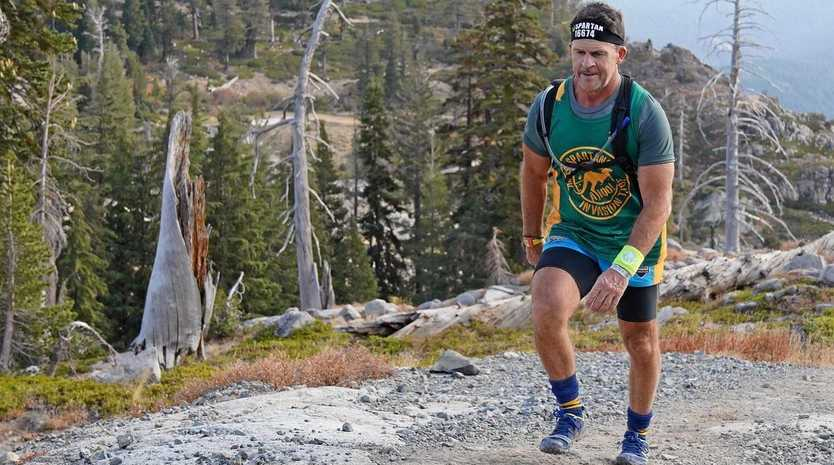 TOUGH: Gympie's Paul Hehir takes on the 2018 Spartan World Championships at North Lake Tahoe, California.