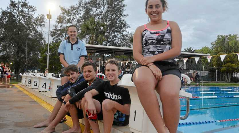 DIVING INTO NEW SEASON: James Hadley, Zac Reid, Alex Reddacliff, Keely Schloss and Paige Connelly are set for the swimming season.