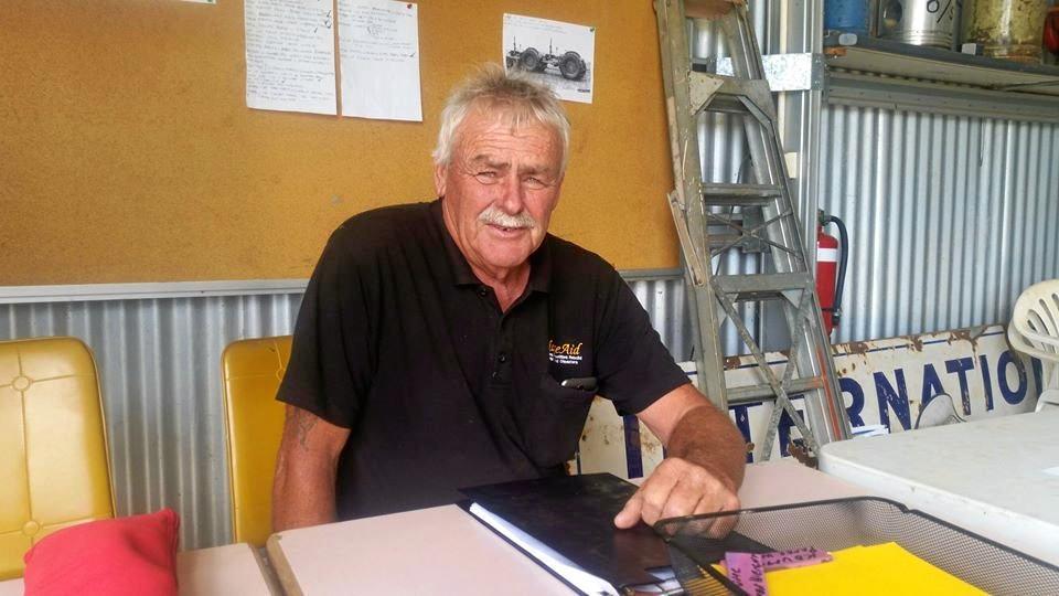 BLAZEAID: Co-ordinator John Lillico said the team had started work but still needed more volunteers.