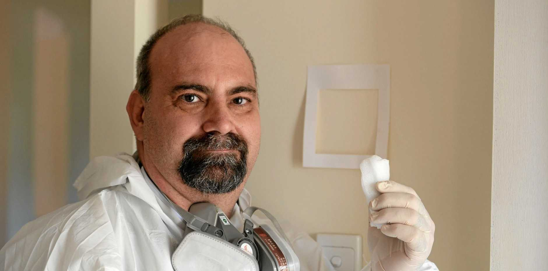 Mark Joubert of Keenland Services works as a residual meth tester for Meth Screen
