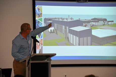 QUICK RECOVERY: Geoff Miller spoke about Sunpork's Swickers abattoir at the WBBROC regional economic development growth forum in Bundaberg on October 11.