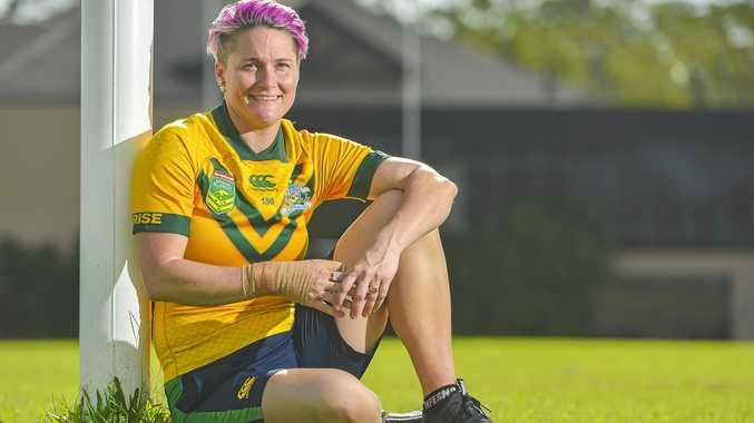 EPIC YEAR: Australian Jillaroo Chelsea Baker at Gladstone's Marley Brown Oval.