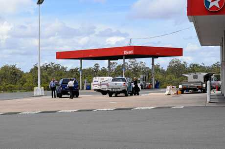 An alleged robbery with assault took place at the Caltex north of Maryborough just before lunch on Wednesday, October 17.