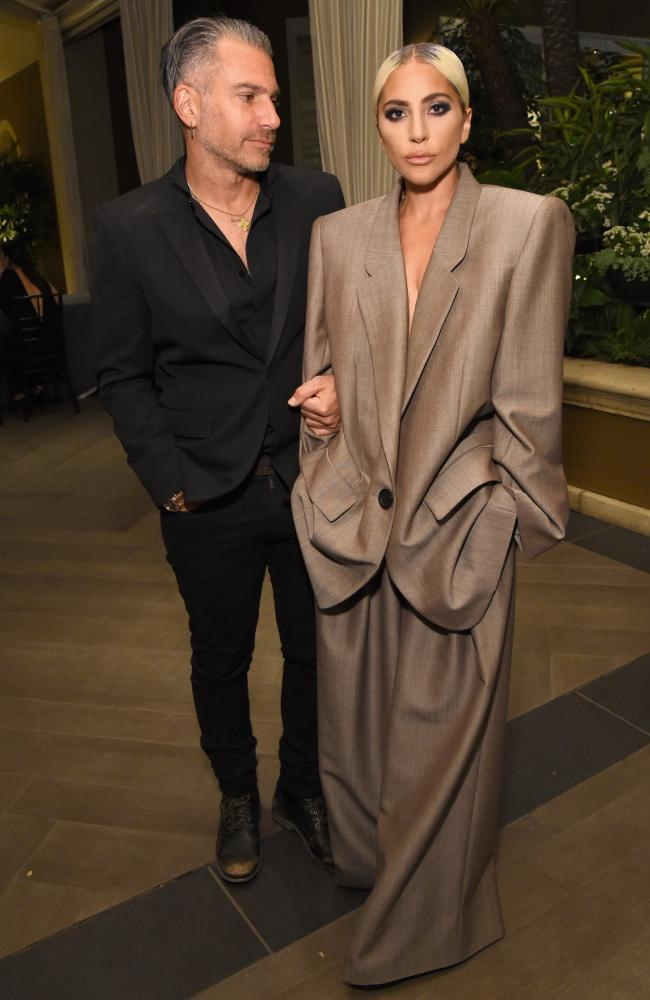 Lady Gaga and Christian Carino attend Elle''s 25th Annual Women In Hollywood Celebration in Los Angeles. Picture: Getty Images for ELLE Magazine