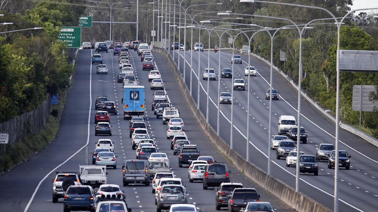 Roads such as the Bruce Highway are being prepared for the coming of driverless cars. Picture: AAP/Josh Woning