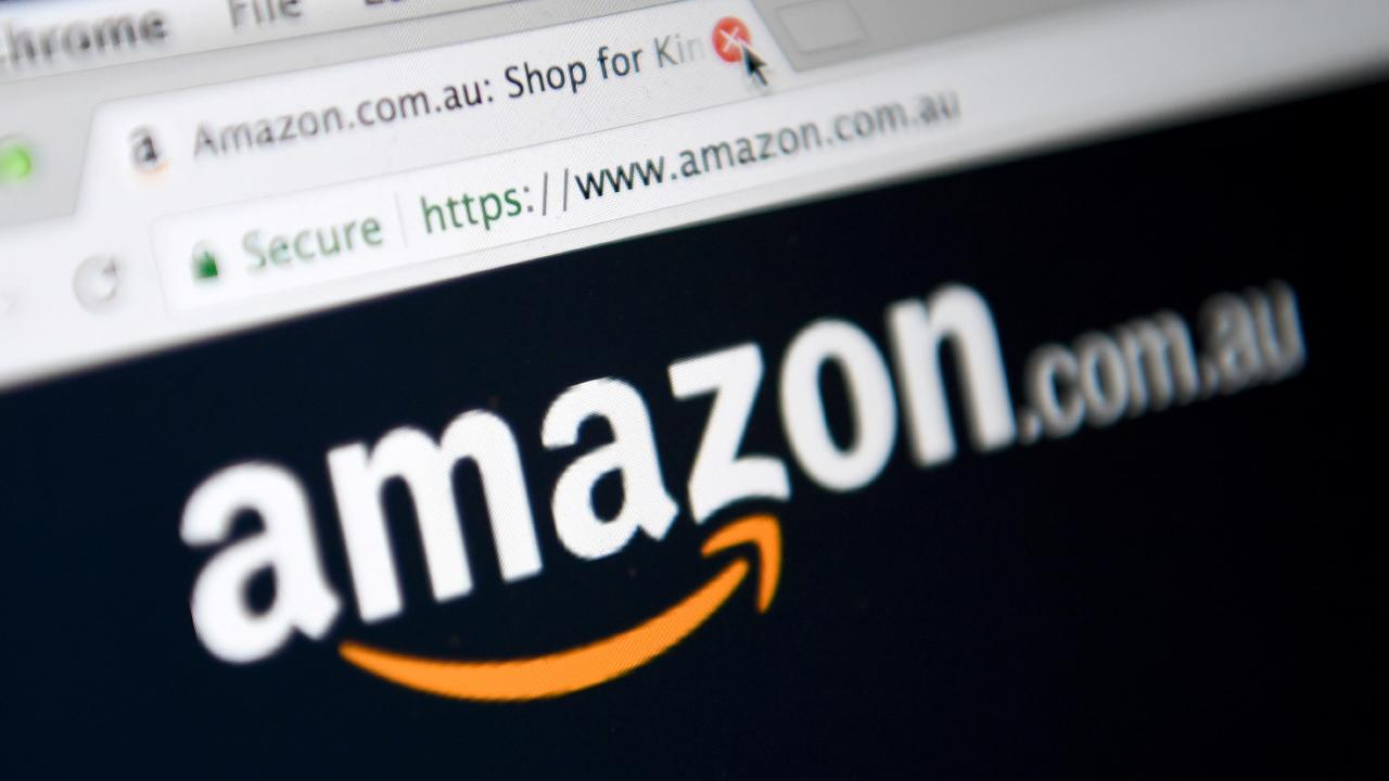 Amazon fires a shot at Coles and Woolies. Picture: Joe Castro