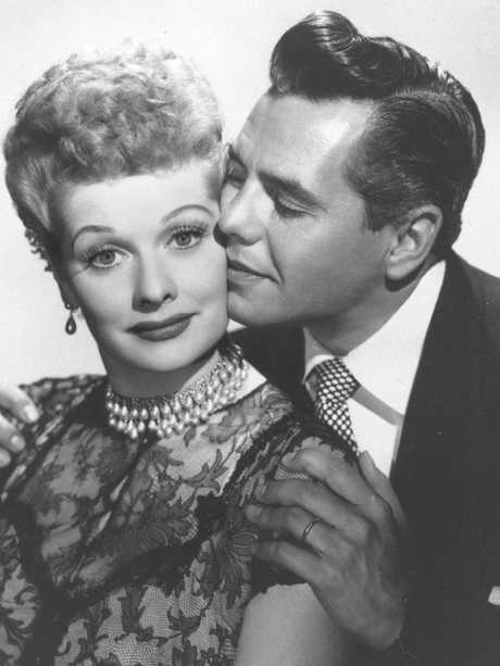 Lucille Ball with Desi Arnaz. Picture: AP