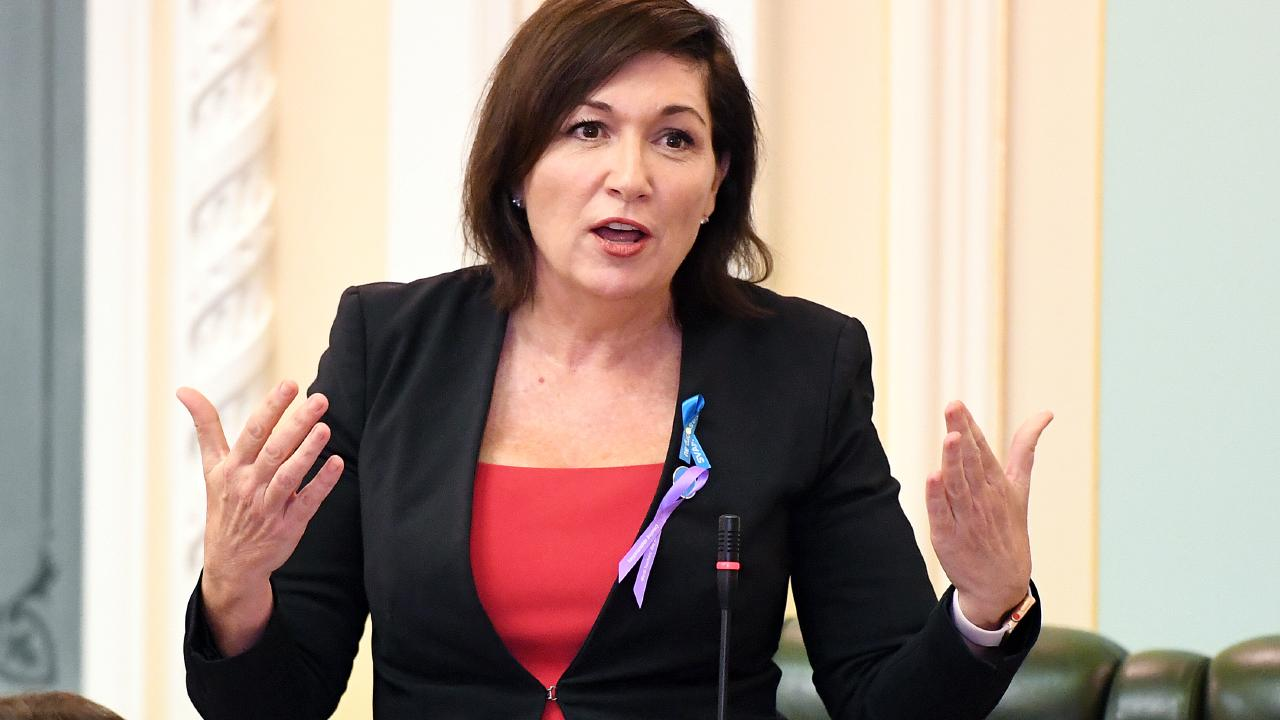Queensland Environment Minister Leeanne Enoch speaks during Question Time today. Picture: Dan Peled/AAP