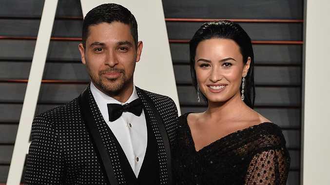 Wilmer Valderrama and Demi Lovato. Picture: Splash News
