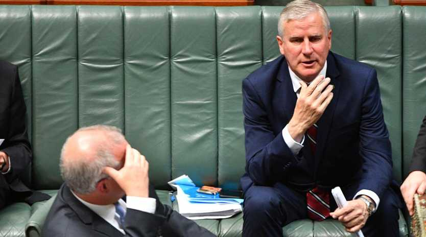 Prime Minister Scott Morrison and Deputy Prime Minister Michael McCormack during Question Time in the House of Representatives. Picture: AAP/Mick Tsikas