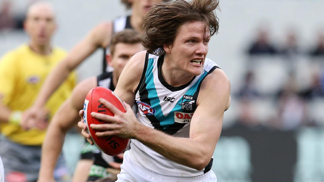 Jared Polec was traded to North Melbourne early in the trade period. Picture: Michael Klein