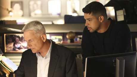 Mark Harmon and Wilmer Valderrama on NCIS. Picture: CBS