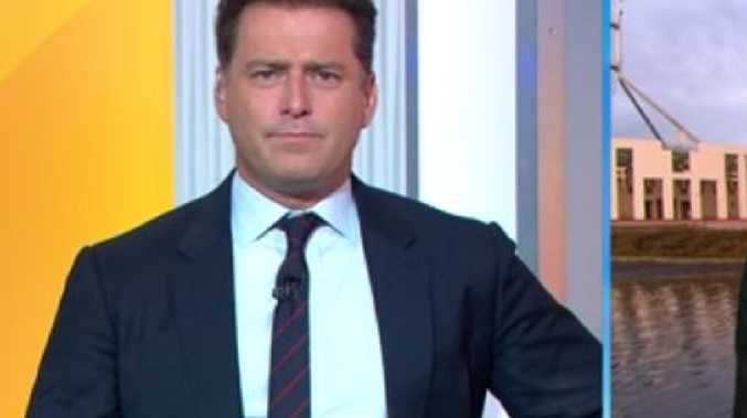Karl Stefanovic interviews Pauline Hanson. Pic: Channel 9