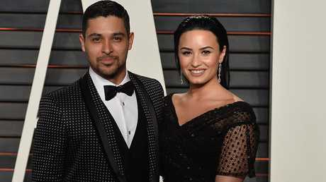 Wilmer Valderrama with Demi Lovato. Picture: Splash News