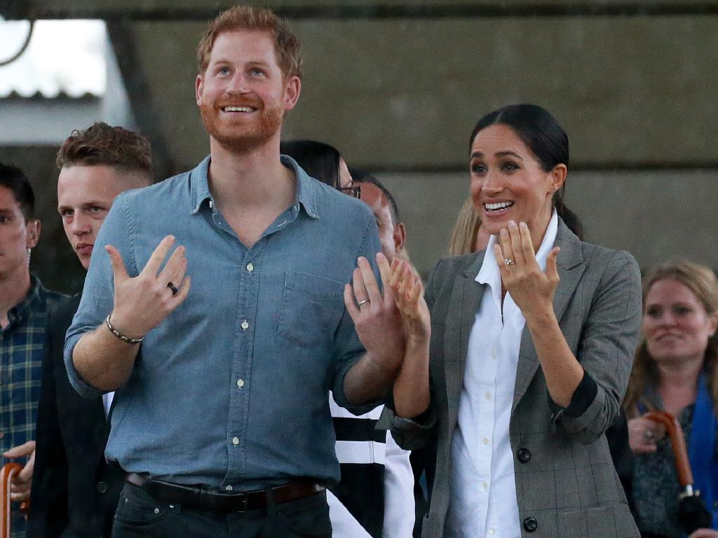 The Duke and Duchess of Sussex, Prince Harry and Meghan Markle visit Dubbo College Senior Campus during their visit to central west NSW. Picture: Toby Zerna