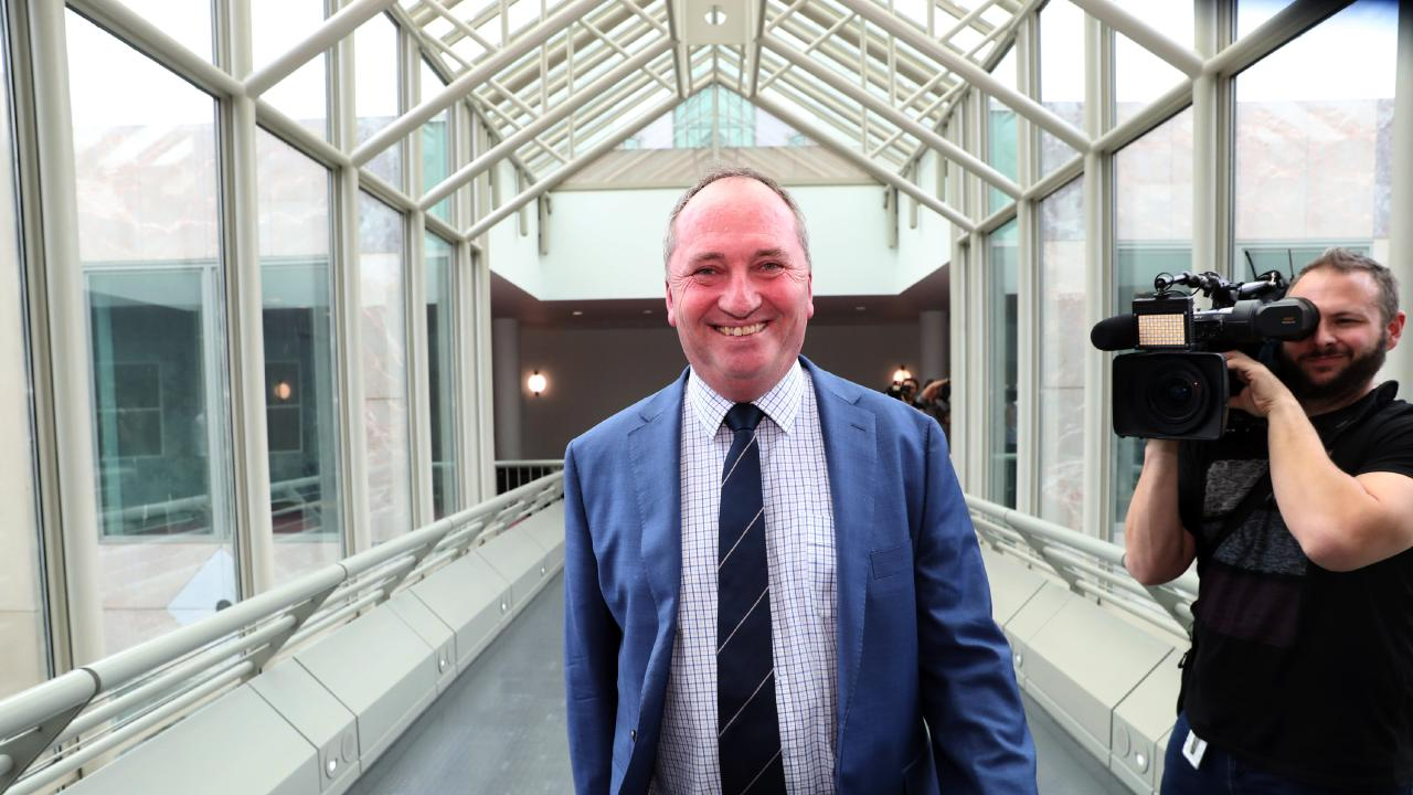 Barnaby Joyce in Parliament House in Canberra. Picture Gary Ramage