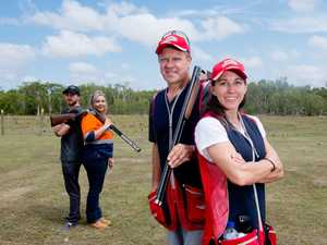Champion shooters Russell and Lauryn Mark (right)