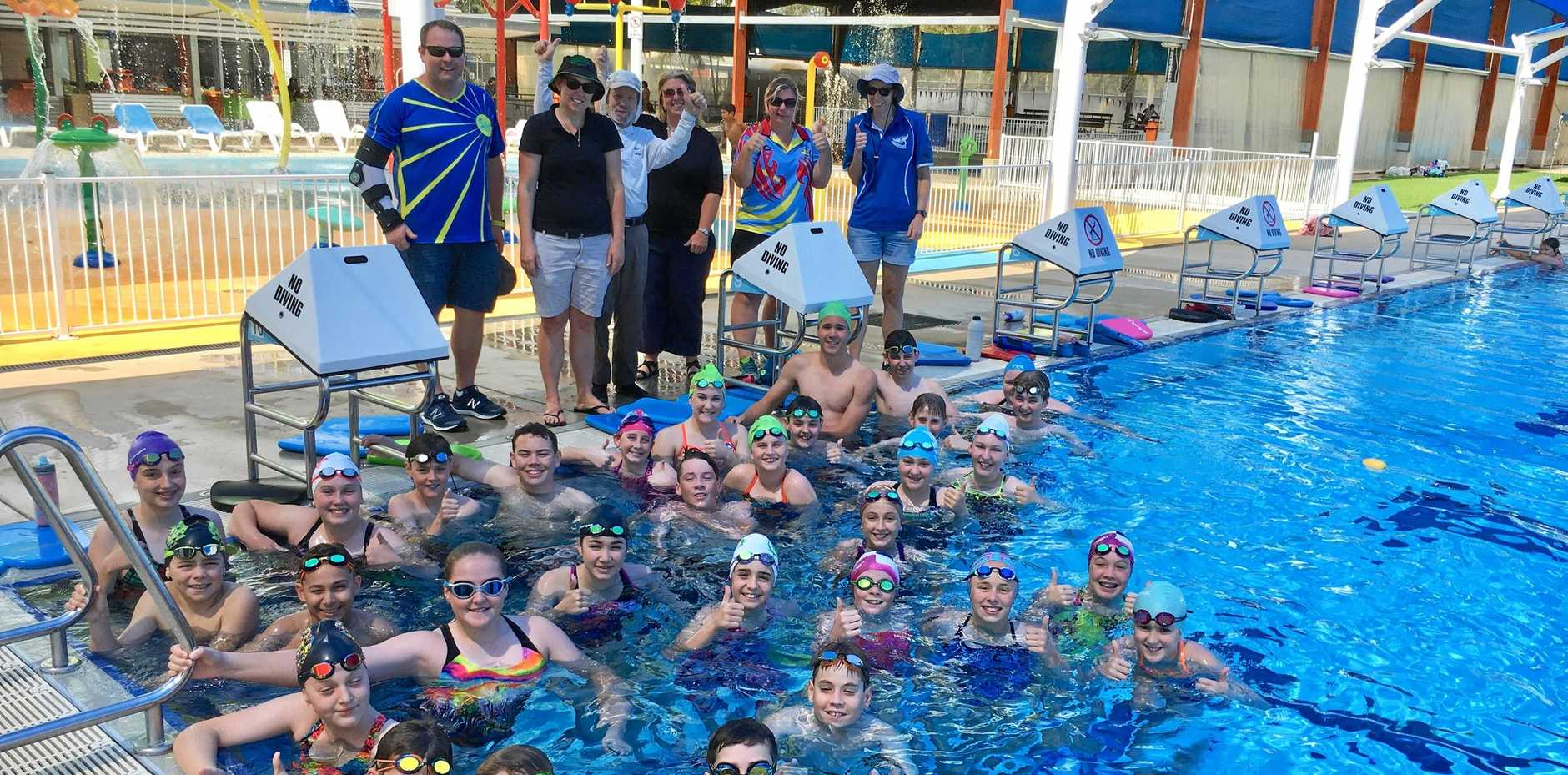 NEW SKILLS: Development swim clinic that was held by the Emerald Seals last weekend.