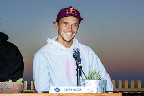Current World No.1 on the Jeep Leaderboard Julian Wilson (AUS) present at the 2018 Corona Open J-Bay press session at Supertubes, Jeffreys Bay, South Africa.