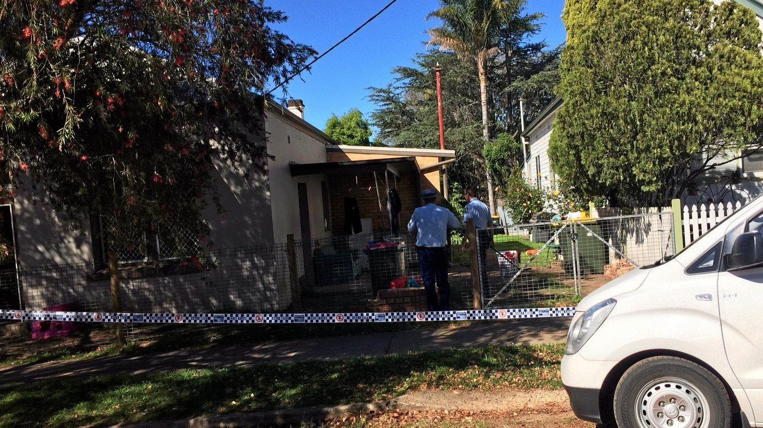 The scene in South Grafton where a shot was fired in October 2016.