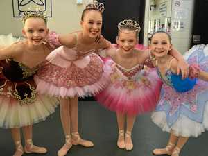 Budding ballerina friends sparkle on stage at eisteddfod